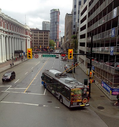 Bus an der Waterfront Station