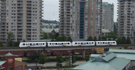 Skytrain in New Westminster