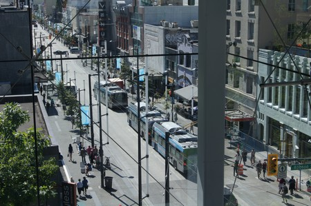 Bus bei Robson St.