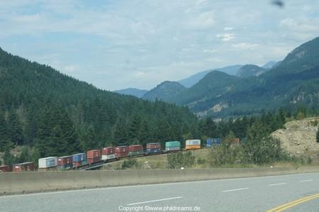 Güterzug im Fraser Valley