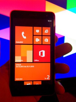Lumia 625 Frontansicht