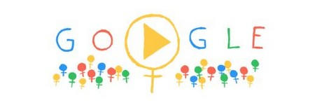 Screenshot Google Doodle Internationaler Frauentag