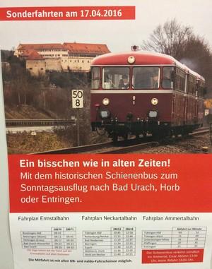 Sonderfahrt Schienenbus